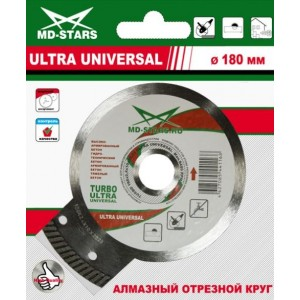 Алмазные диски TURBO ULTRA UNIVERSAL MD-Stars от 115 мм до 350 мм
